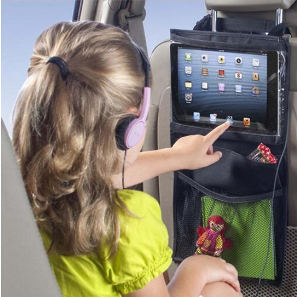 New Car Seat Organizer Holder Multi-Pocket Travel Storage Hanging Tablet PCs Mummy Bags Baby Car Seat for Ipad Hanging Bag