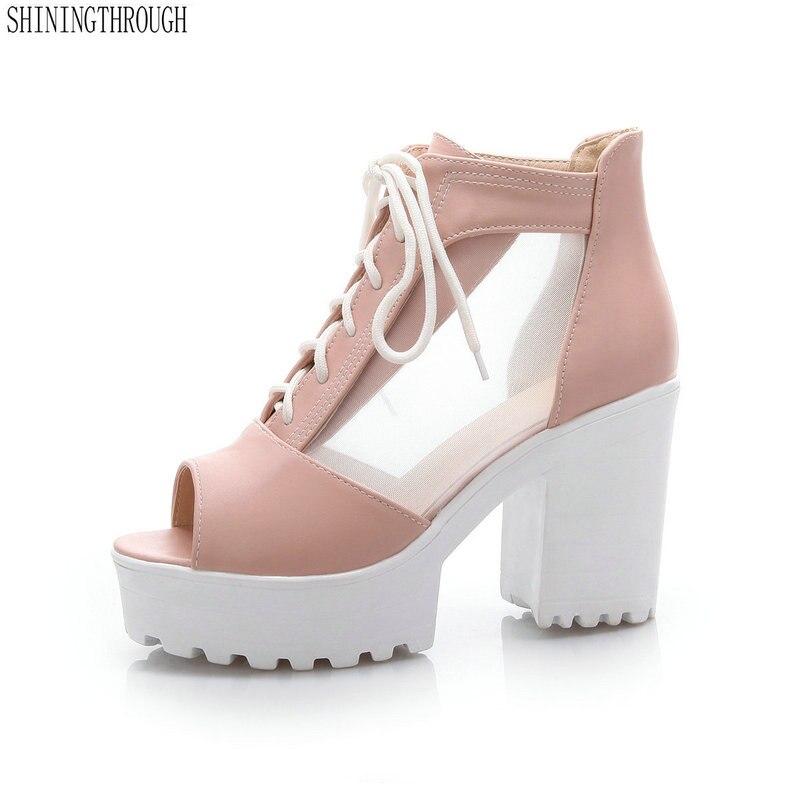 Ladiamonddiva Sandals 2017 Fashion Women Sandals High Heels Women Pumps Cut-Outs Peep Toe Lace Up Wedding Shoes Woman Sandalias Green 6