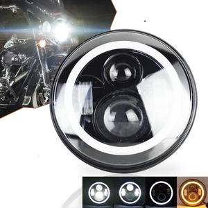 "Image 4 - Universal 7"" Led Car Motorcycle Headlight H4 Phare Farol Moto Headlamp Head Light For BMW Softail Cafe Racer Chopper Honda"