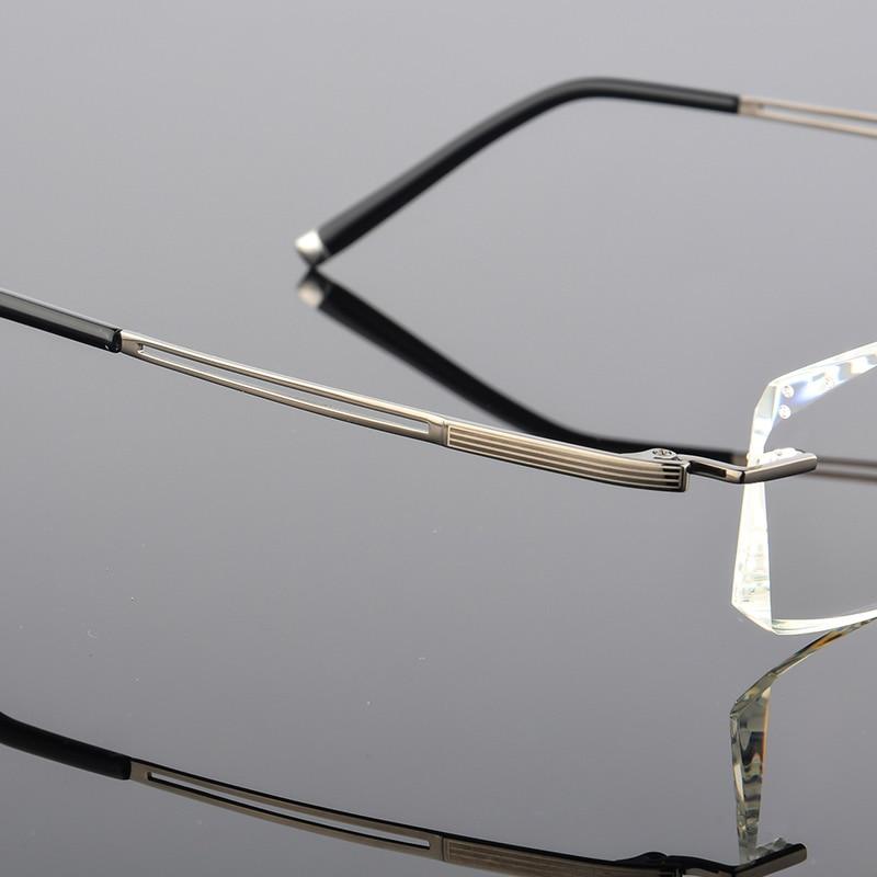 Linsen 2018 Titan Computer Klar Diamanten Brillen Damen Randlose Männer Gläser grau Luxus Myopie Hohe Qj Schwarzes Lesebrille Design wFwqv
