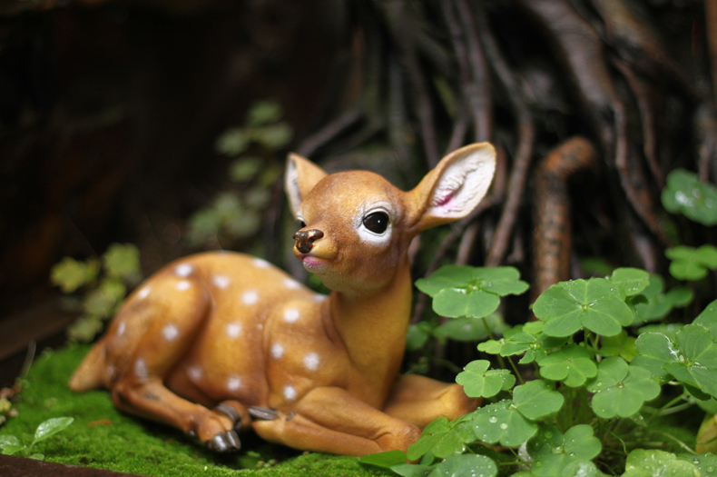 Garden Resin Deer Figurines Courtyard Decoration A.