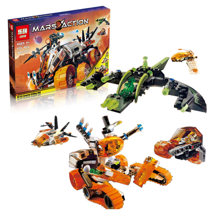 Mar Mission Space Series LEPIN 27001 655Pcs The Mt 101 Amoured Drilling Set Educational Building Blocks Bricks Toys Child Model lucky john croco spoon big game mission 24гр 004