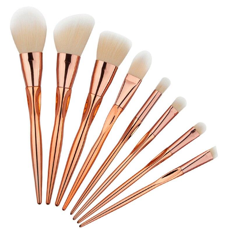 Makeup Brushes 8Pcs Professional Rose Gold Cosmetics makeup brush Set Eyebrow Brush Kit Tools Makeup Brushes maquiagem