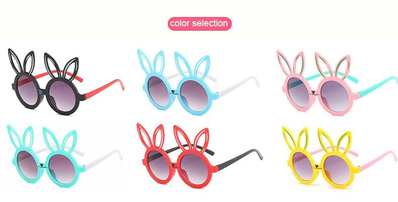 MINIMUM Cute rabbit shape Flexible Kids Sunglasses UV400 Eyewear Shades Infant Polarized Child Baby children Safety Sunglasses 3