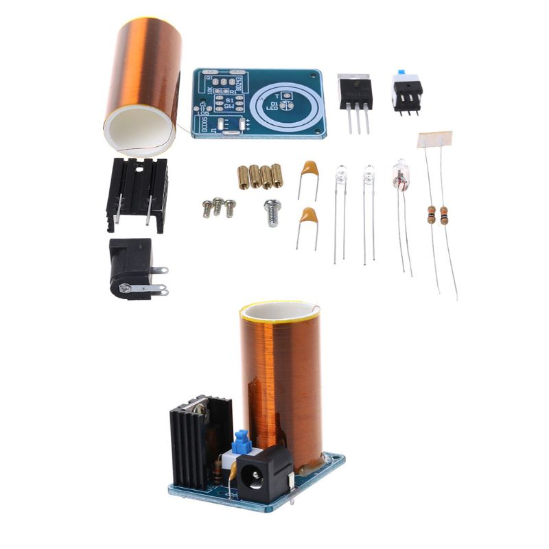 9-12V BD243 Mini Tesla Coil Kit Electronics DIY Parts Wireless Transmission DIY Board Set Drop Ship