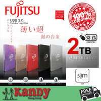 FUJITSU Nhôm USB 3.0 External Hard Drive HDD 2 TB Disco DURO Externo 2To HD Disque dur Externe Harde schijf harici xách tay