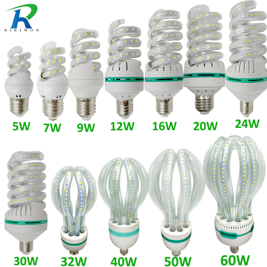 RiRi won LED Bulbs SMD E27 light Lamp 220V Smart IC Real Power Brightness Lampada LED Bombilla for home decoration LED Bulb микросхема cm2801b led ic