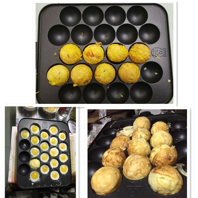 Household 22 Holes Octopus Balls Baking Plate Machine Non-stick 220V High Quality Electric Meatball Maker Machine EU/AU/UK/US