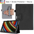 For Microsoft Surface Pro 3  2014 12'' Windows Tablet Multi-Angle Stand Folio PU Leather Cover Case w/ Hand Strap&Card Holder