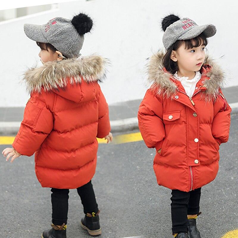 2018 vêtements d'extérieur pour enfants bébé filles coton manteaux à capuche veste d'hiver vêtements d'hiver pour enfants filles mode Parkas chauds