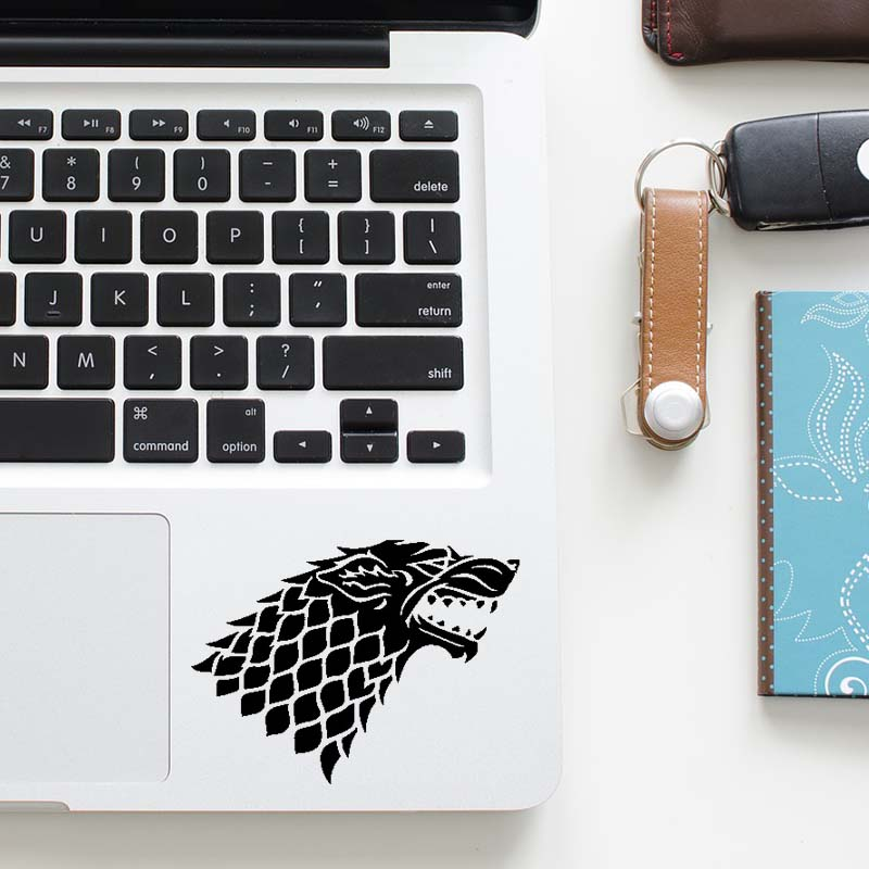 House Stark Wolf Symbol Quote Decal Laptop Trackpad Sticker for Macbook Pro Air Retina 11 12 13 15 inch Mac HP Mi Touchpad Skin