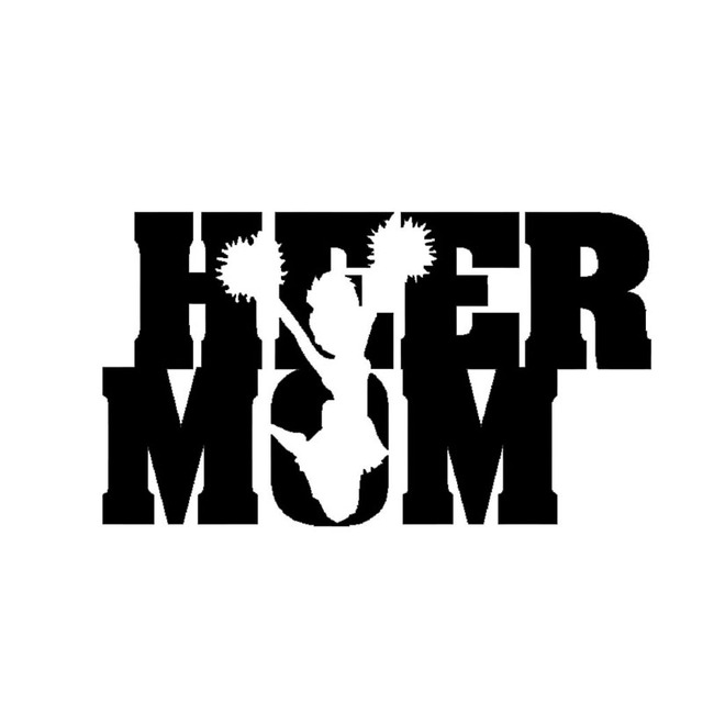 f157977a5a7 Wholesale 10pcs lot 20pcs lot Cheer Mom Sticker Vinyl Decal Car Truck  Bumper Window Funny Cheerleader Dance