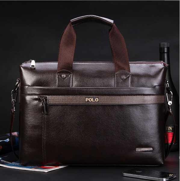 Briefcases: New Fashion Men's Briefcase PU Leather Business Shoulder Bags Quality Stylish Brand Handbags Brand Tote Bag for Man XB114