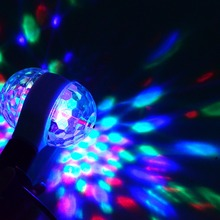 Auto Rotating Crystal Stage RGB LED Lamp