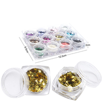 12 Colors Wedding Decoration Star Shape Nail Glitters Finger Nails Cell Phone DIY Material Supplies 3D