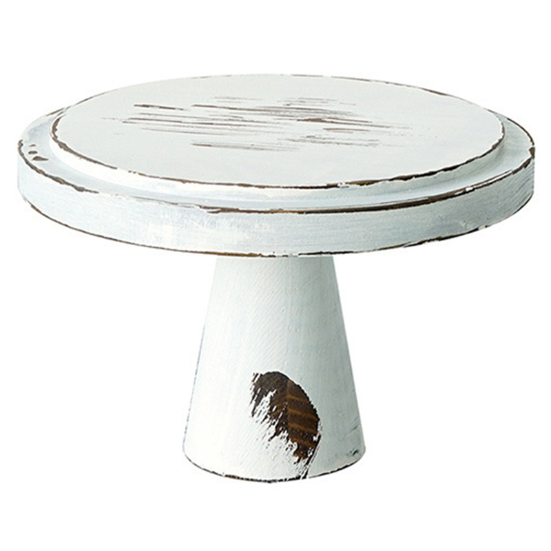 Sweetgo Vintage White Wood Cake Stands Ornament Storage Racks Wedding Cake Tools For Fondant Cupcake Storage Holders S