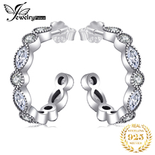 Jewelrypalace Real 925 Sterling Silver Marquise Hoop Eternity Anniversary For Women On Sale Stud Earrings