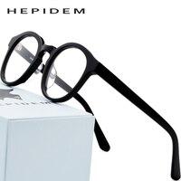 Acetate Optical Glasses Frame Men Full Vintage Round Prescription Eyeglasses 2018 New Women Spectacles Eyewear