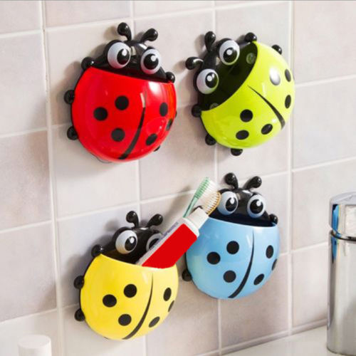 Brand New Cartoon Animal Toothbrush Holder Wall Mounted Sucker Bathroom Suction Cup Cute Bathroom Products image