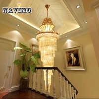 Große Gold Kaiser K9 Kristall Kronleuchter für Hotel Halle Wohnzimmer Treppe Hängen Anhänger Lampe Europäischen Große Beleuchtung