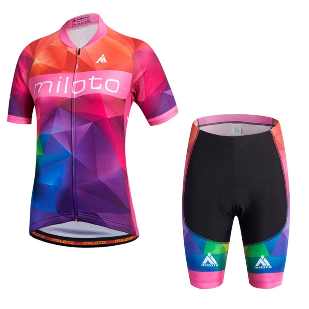 Girl Cycling Jersey Set Team Sports Kid Cycling Jersey & Mountain Bike Bib Shorts Set Maillot Ciclismo Kit Children's Gift