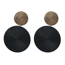 Western Style Hot Sell of high-quality Two circle earring For Women Personlity Fashion jewelry Girl Charm Accessory Stud Earring