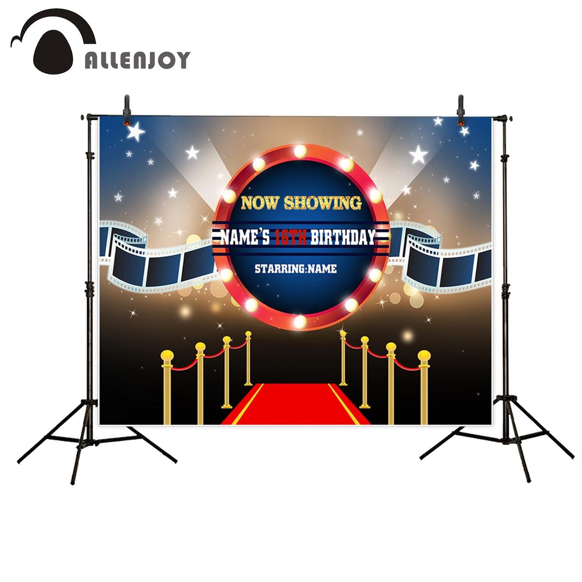 Allenjoy photography background Red carpet film spotlight birthday customized background photo studio camera fotografica