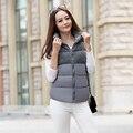 2016 горячей продажи Корейской зимой Тонкий крупных женщин размер Толстый мода Корейский жилет женский жилет