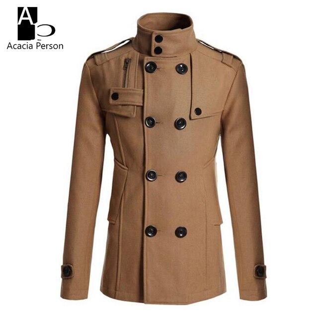 3Männer Jacken Schwarz 2017 US33 Marke Männer Britischen Mantel Freien Grabenoberbekleidung Mantel Neue Reißverschluss Winter Stil herren FlK1JTc