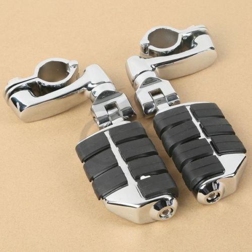 Universal Highway FootPeg Footrest For Harley 32MM Engine Guard Crash Bar Chrome Kawasaki Suzuki Bar Motorcycle