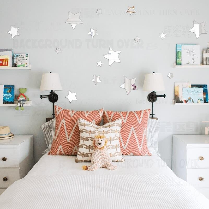 €6.46 18% de réduction|Miroir Stickers muraux chambre décoration décor  autocollant chambre salle de bain étoiles enfants enfants fille pépinière  ...