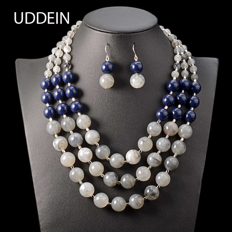 UDDEIN Bohemian handmade multi layer beads necklace women vintage statement wedding bridal accessories african beads jewelry set