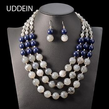 UDDEIN, collar de cuentas multicapa hecho a mano bohemio, declaración vintage para mujer, Accesorios DE BODA nupciales, conjunto de joyas de cuentas africanas
