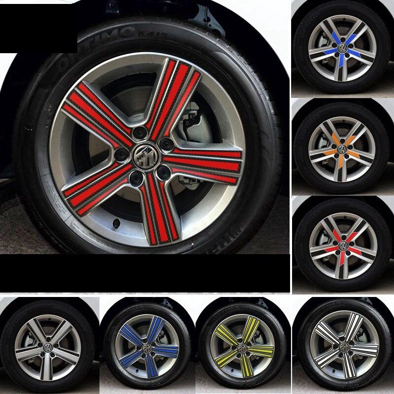 Car Wheel Hub Tire Sticker Strip Wheel Rim Tire Protection Care Covers carbon fiber Auto Accessories Parts For Volkswagen Golf 7 10pcs 20 8 1 9mm rubber hollow tire car wheel model wheels diy toy accessories for car f17678