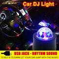 Car LED Музыка Огни DJ Мини RGB 18 Вт LED MP3 Клуб Disco Party Кристалл Magic Ball Стадия Эффект Вращающихся Лампы С USB интерфейс