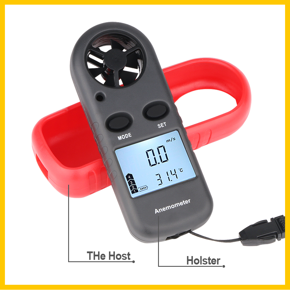 Portable RZ GM816 Wind Speed Meter Used as Anemometer with LCD Display Useful for Windsurfing 18