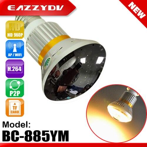 bilder für 885YM HD 960 P P2P Spiegel Led-lampe WiFi/AP IP Netzwerkkamera 5 watt Warmes Licht Unterstützung Nachtsicht Bewegung Dection 2017 Neue Ankunft