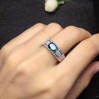 Uloveido Sri Lanka Sapphire Engagement Rings, Ring Silver 925 Women, Lady's Certified 5*7mm Gemstone Wedding Jewelry FJ217