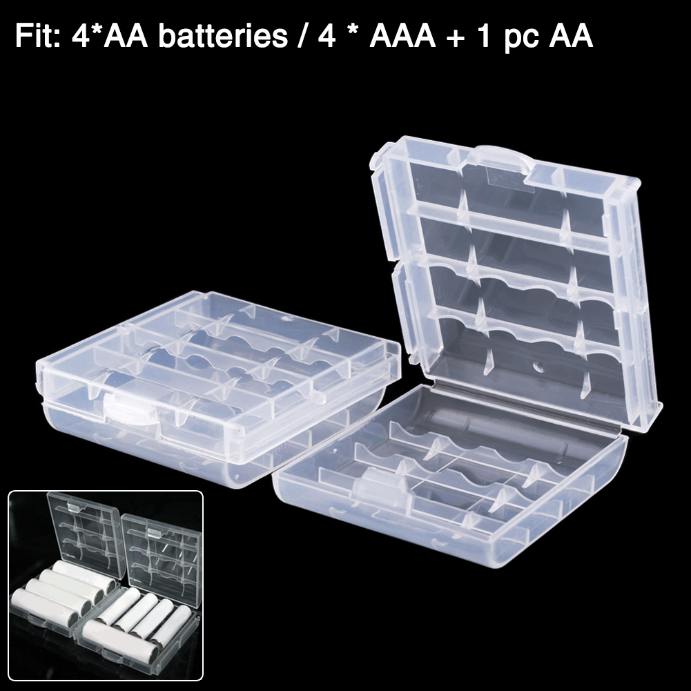 YCDC Top Quality Hard Plastic Transparent AA AAA Battery Storage Boxes Case Holder Batteries Container Organizer Durable-in Battery Storage Boxes from ... & YCDC Top Quality Hard Plastic Transparent AA AAA Battery Storage ...