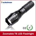 E17 del CREE XM-L T6 3800 Lumens CREE llevó la antorcha Zoomable del CREE LED linterna antorcha de luz para 3 x aaa o 1 x 18650 envío gratis