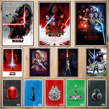Star Wars The Last Jedi Coated paper poster Bar Cafe Vintage High quality Printing Drawing core Decorative Painting