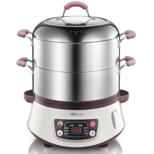 Bear Multifunctional  Stainless Steel Electric Steamer Set Timer 8 Liters Large Capacity Electric Food Steamer DZG-B80A1