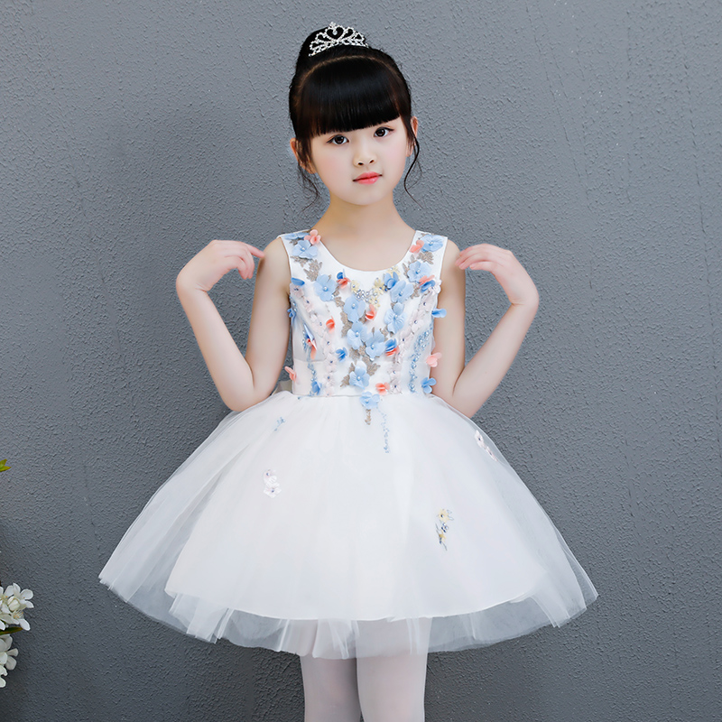 High-quality children's dress puff princess dress girl piano host costume flower girl birthday catwalk show baby girl red children s dress princess dress long sleeve birthday flower girl dress girl piano host costume long winter