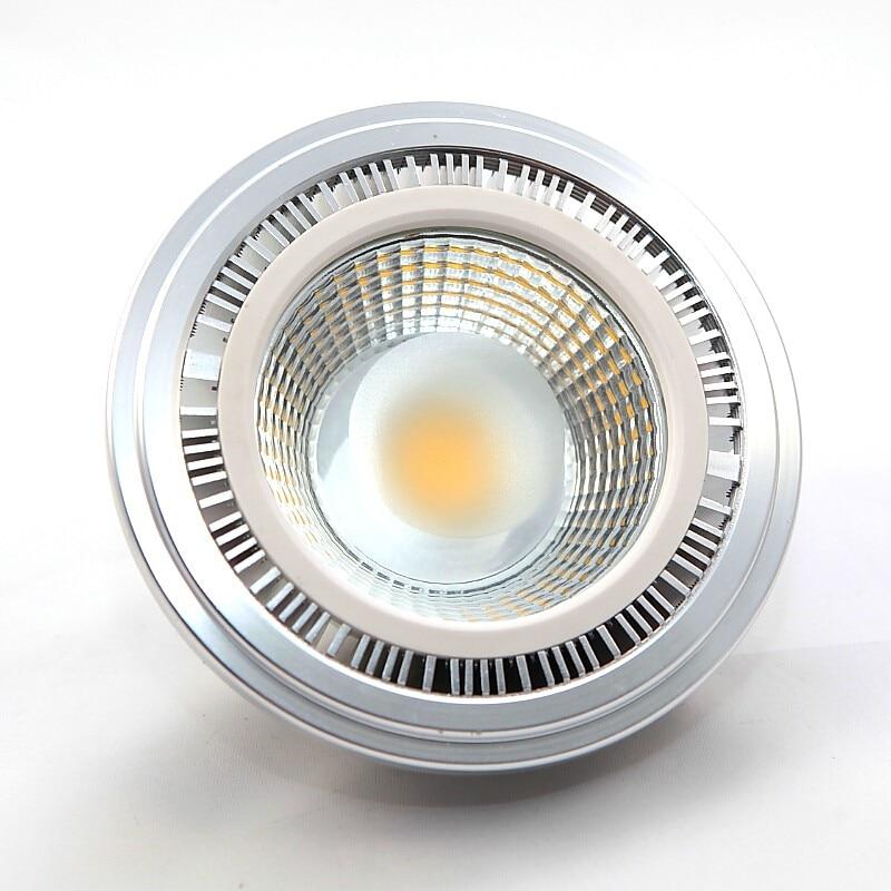 ar111 cob led spotlight bulb dimmable 110v220v12v gu10 g53 highclass aluminum alloy 15w replace 100w halogen for commercial
