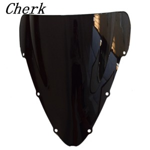 New Black Motorcycle Double Bubble Windshield Fairing Windscreen Screen For Honda CBR600 F4i 2001-2007 06 05 04 03 02 cbr(China)