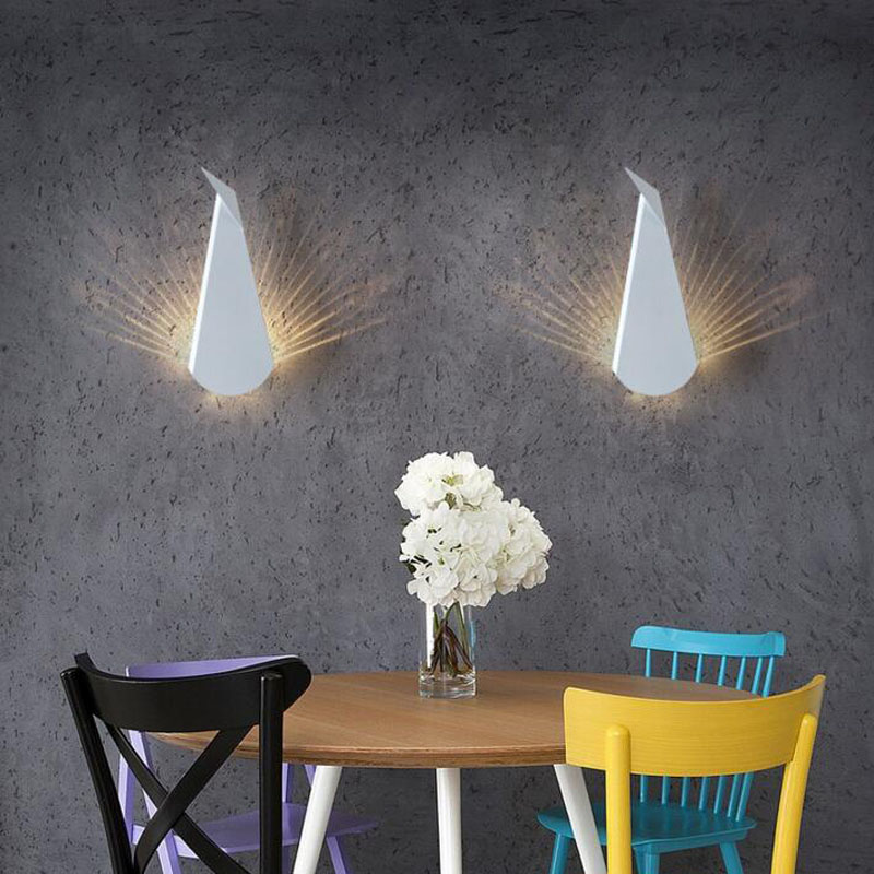 L Nordic simple modern bedroom bedside wall lamp peacock creative personality aisle TV background wall led lamps led southeast asia fashion creative peacock crystal wall lamp nordic bedroom bedside living room tv background wall lamp 220v led