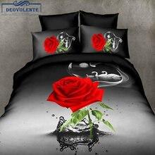 4 шт простыня из полиэстера с рисунком розы