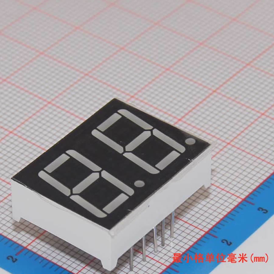 10pcs 7 Segment Common Cathode 2 Bit Digital Tube 056 056in Red Here Is The Schematic For 2digit 7segment Display Circuit Click Led Segmentos In Displays From Electronic Components