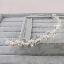 Miallo Hair Jewelry Woman Fashion Crown Bride Simulated-Pearl Rhinestone Tiara Wedding Tiaras Hair Bridesmaid Accessories