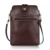 6 Colori Doppie Tasche Messenger Bag Zaino con la Cinghia Magnetica Del Raccoglitore di Cuoio Della Copertura di Caso Per Tutti Smartphone 8.0